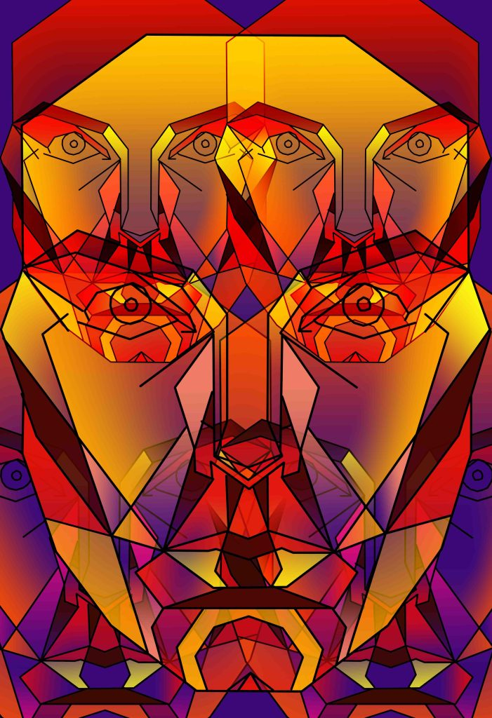 Facets by Saniya Walawalkar, digital.